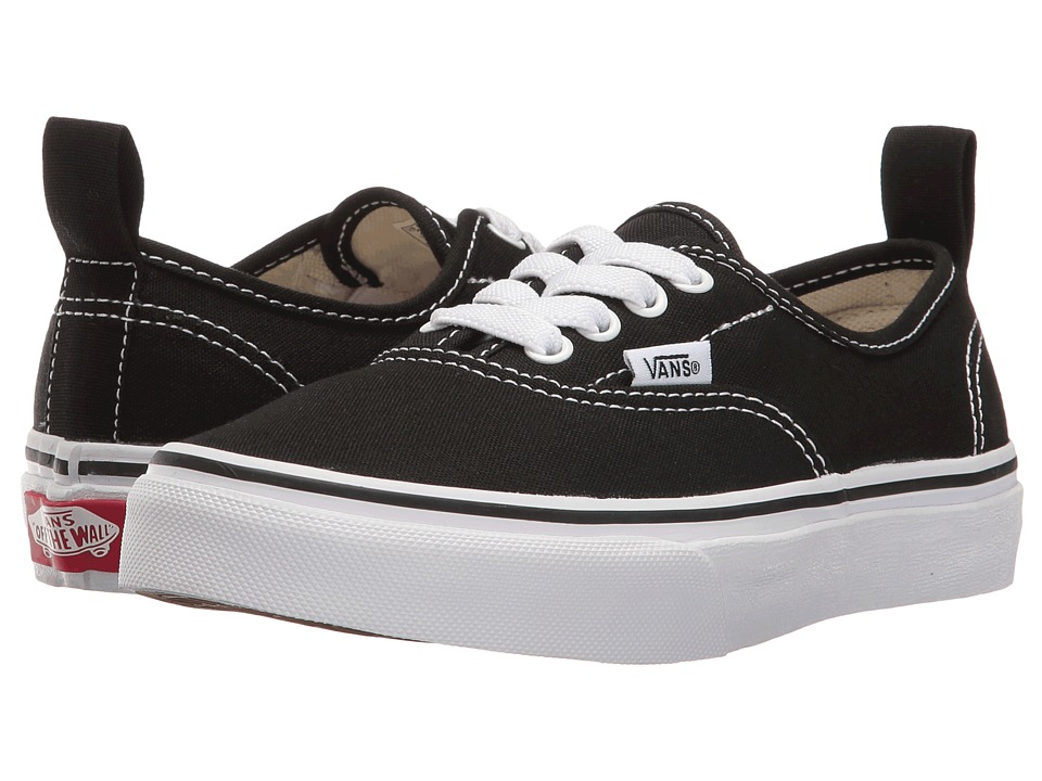 Vans Kids - Authentic Elastic Lace (Little Kid/Big Kid) ((Elastic Lace) Black/True White) Kids Shoes