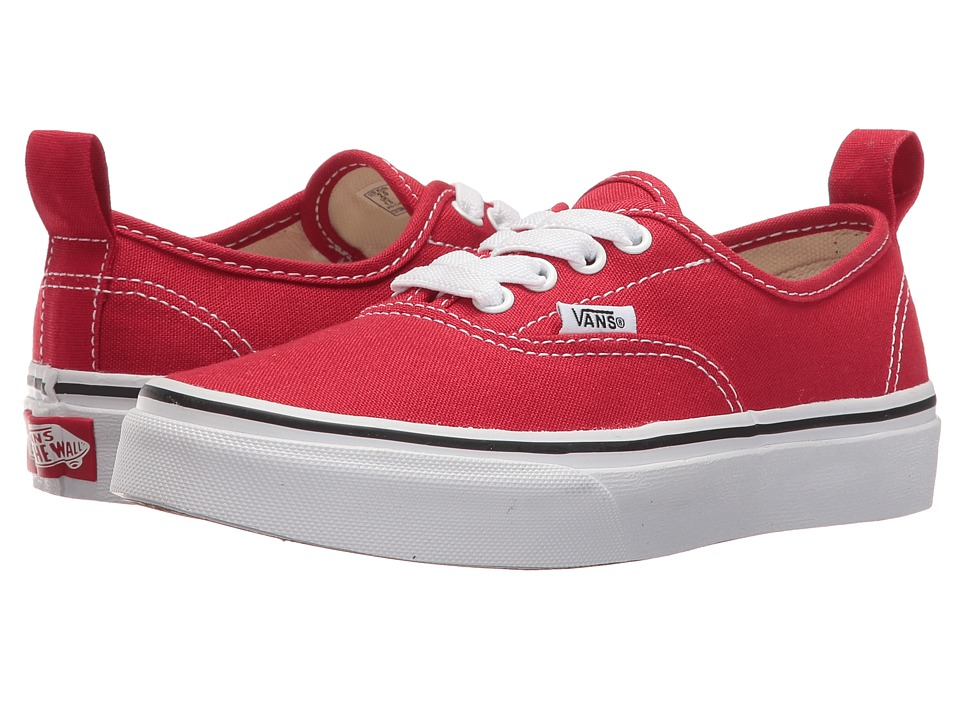 Vans Kids - Authentic Elastic Lace (Little Kid/Big Kid) ((Elastic Lace) Racing Red/True White) Kids Shoes