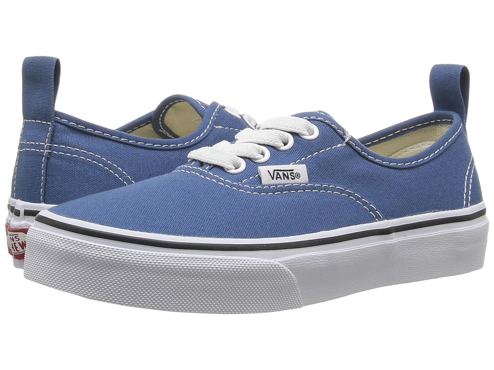 Vans Kids - Authentic Elastic Lace (Little Kid/Big Kid) ((Elastic Lace) Navy/True White) Kids Shoes