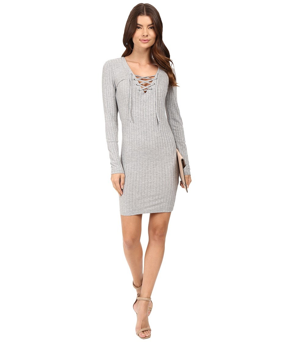 ONLY - Rikki Lace-Up Dress (Light Gray Melange) Women's Dress