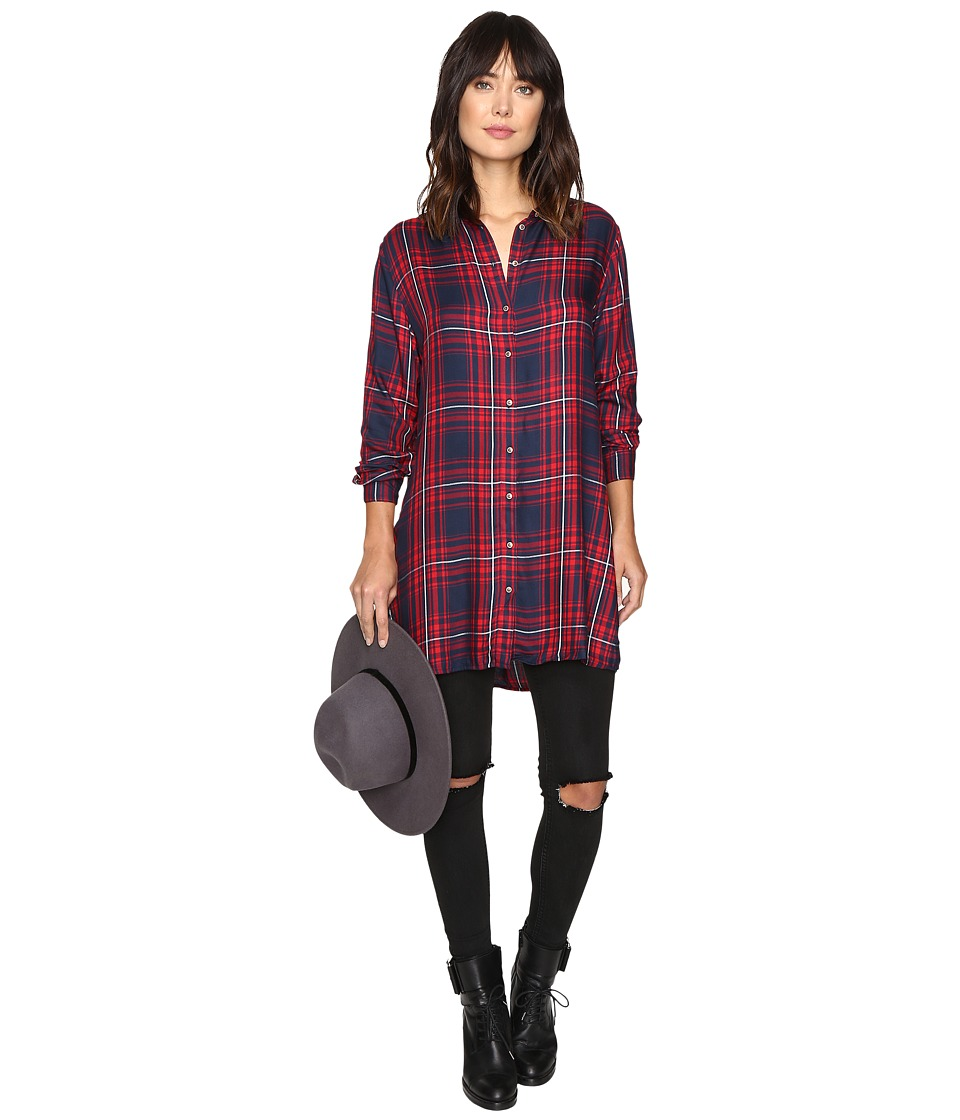 ONLY - June Long Shirt (Ketchup) Women's Clothing