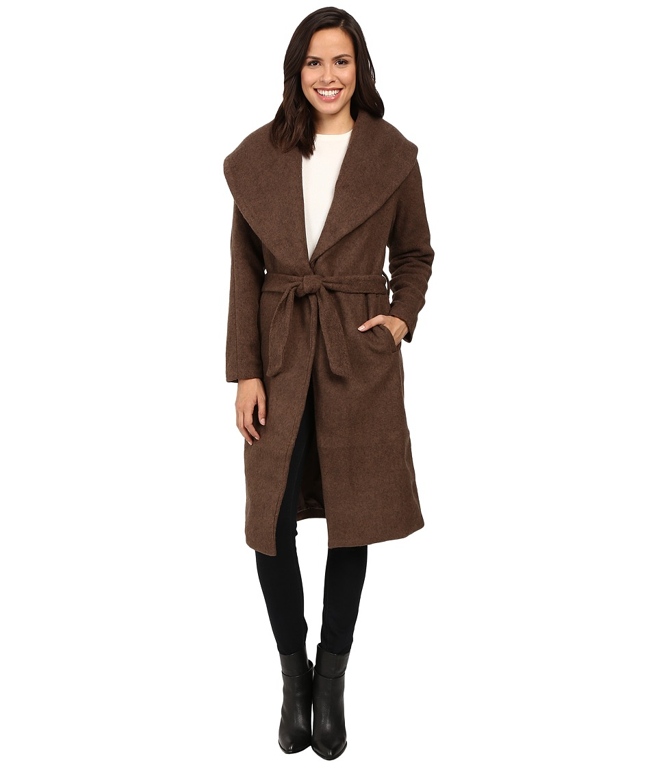 ONLY - New Scoop Drapy Coat (Light Gray Melange) Women's Coat