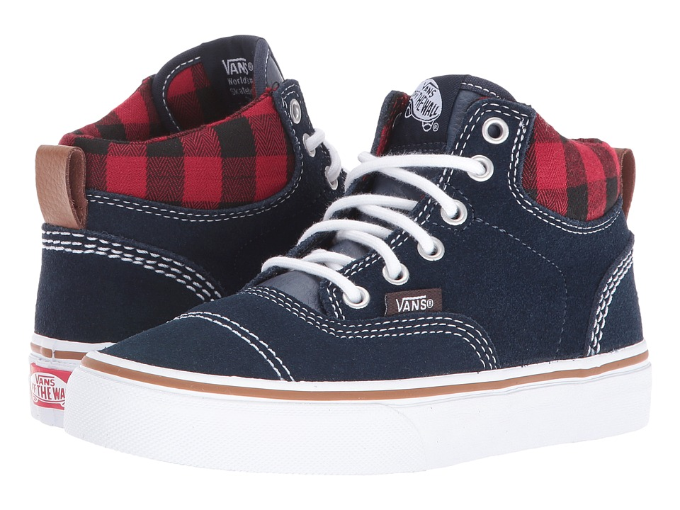 Vans Kids - Era-Hi (Little Kid/Big Kid) ((MTE) Navy/Plaid) Boys Shoes