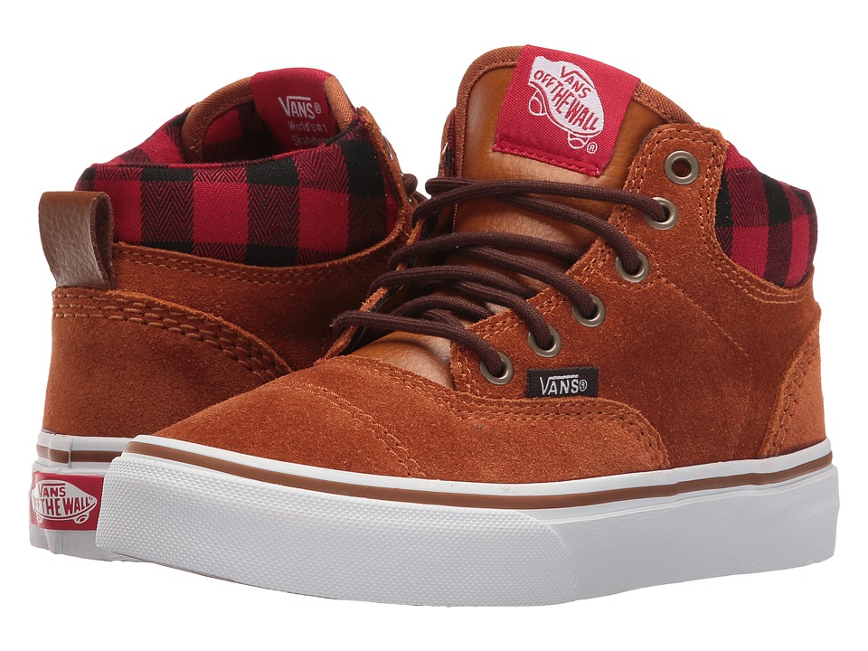 Vans Kids - Era-Hi (Little Kid/Big Kid) ((MTE) Glazed Ginger/Plaid) Boys Shoes