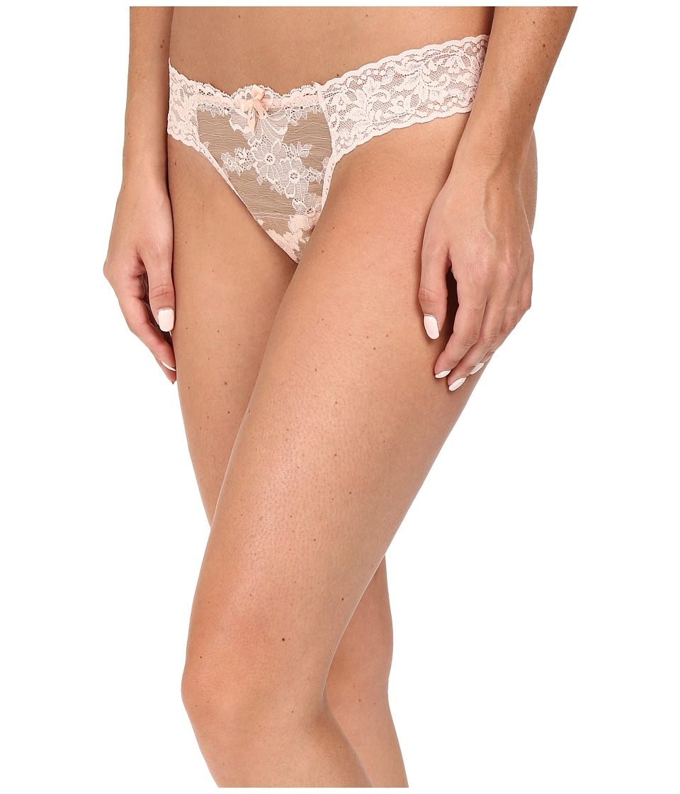 Hanky Panky - Truly Decadent Low Rise Diamond Thong (Champagne/Blush) Women's Underwear