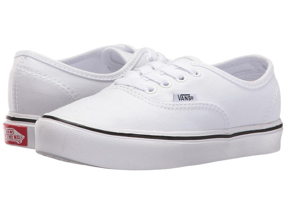 Vans Kids Authentic Lite (Little Kid/Big Kid) (True White/True White) Kids Shoes