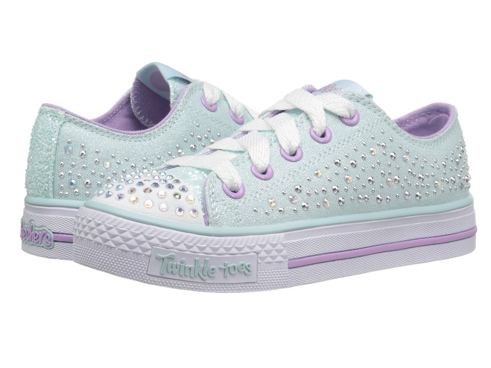 SKECHERS KIDS - Shuffles - Sparkle Wishes Lights (Little Kid/Big Kid) (Light Blue) Girl's Shoes