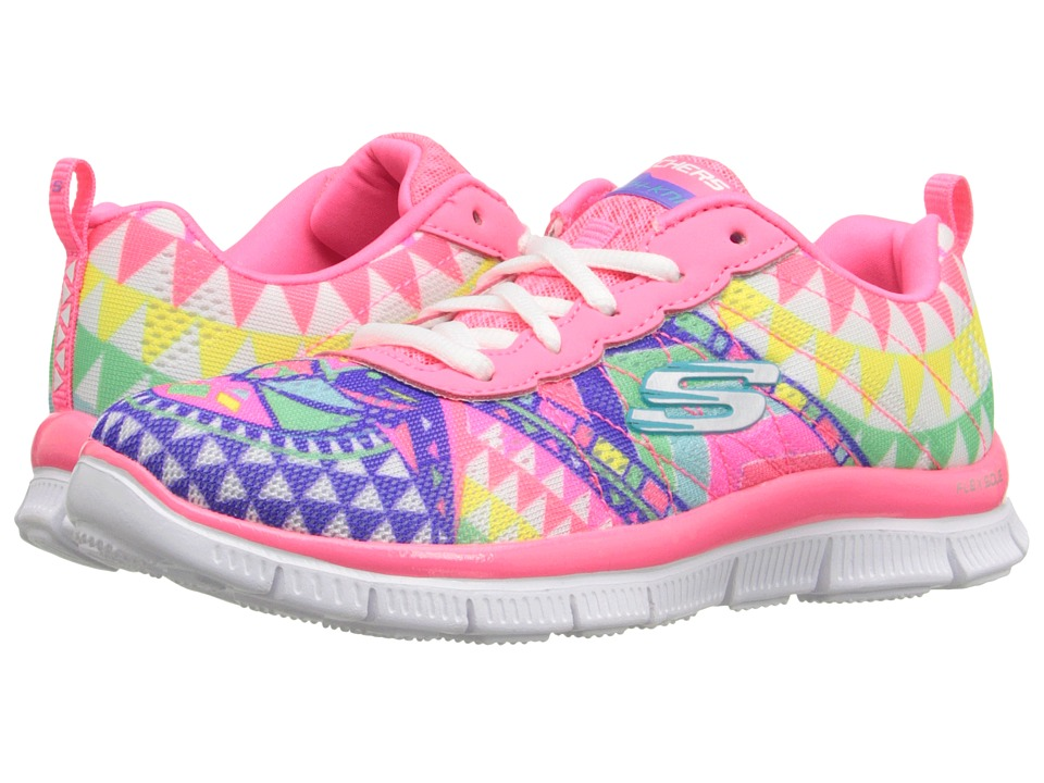 SKECHERS KIDS - Skech Appeal - Arrowhead (Little Kid/Big Kid) (Hot Pink/Multi) Girl's Shoes