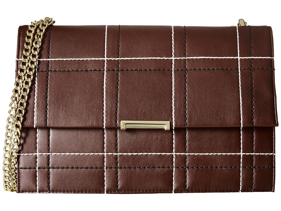 Ivanka Trump - Mara Large Flap (Garnet) Shoulder Handbags