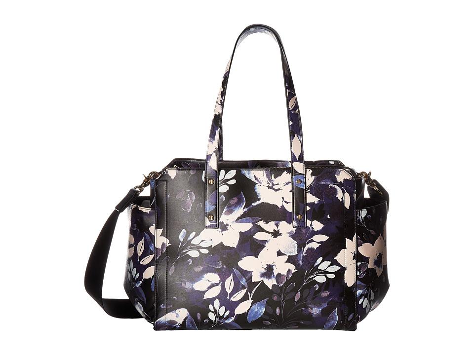 Ivanka Trump - Soho Solutioned Oriented Baby Bag (Night Garden Print) Shoulder Handbags