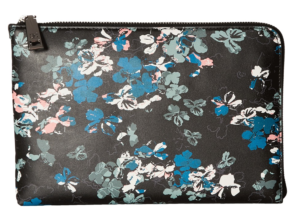 Ivanka Trump - Rio Tech Clutch with Battery Charging Pack (Black Ditsy Floral) Clutch Handbags