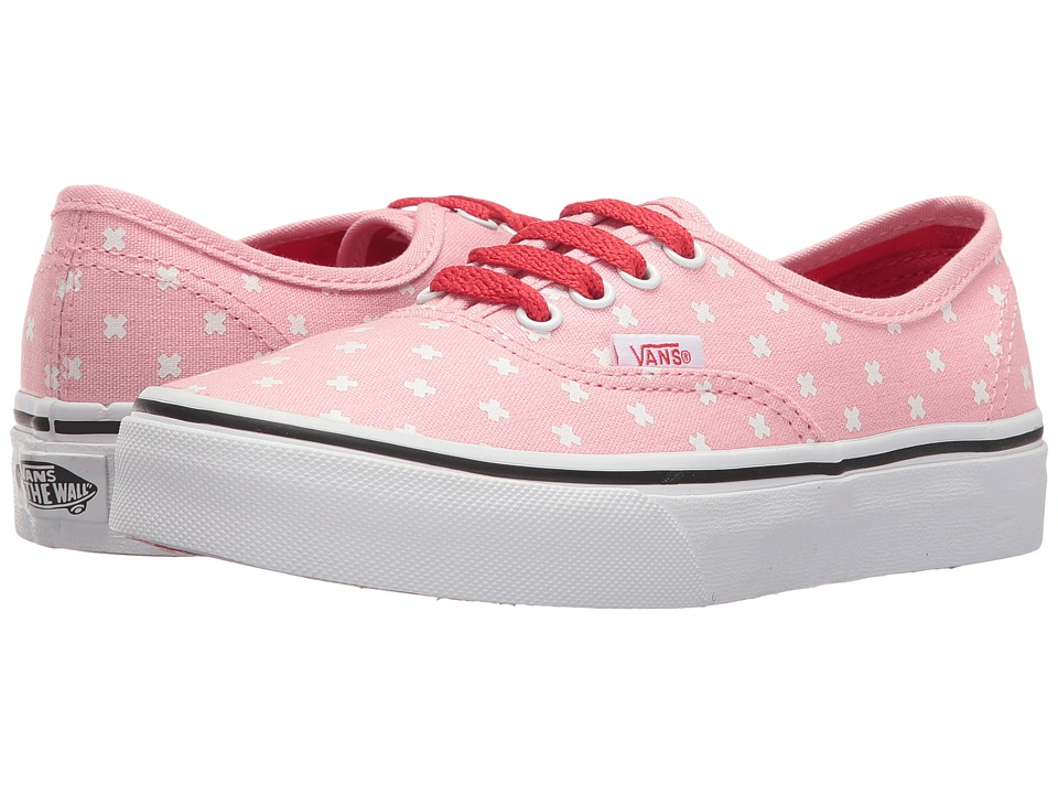 Vans Kids - Authentic (Little Kid/Big Kid) ((Plus) Candy Pink/Hibiscus) Girls Shoes