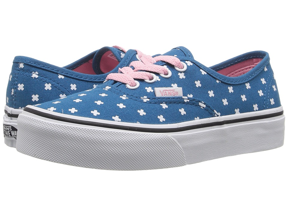 Vans Kids - Authentic (Little Kid/Big Kid) ((Plus) Seaport/Candy Pink) Girls Shoes