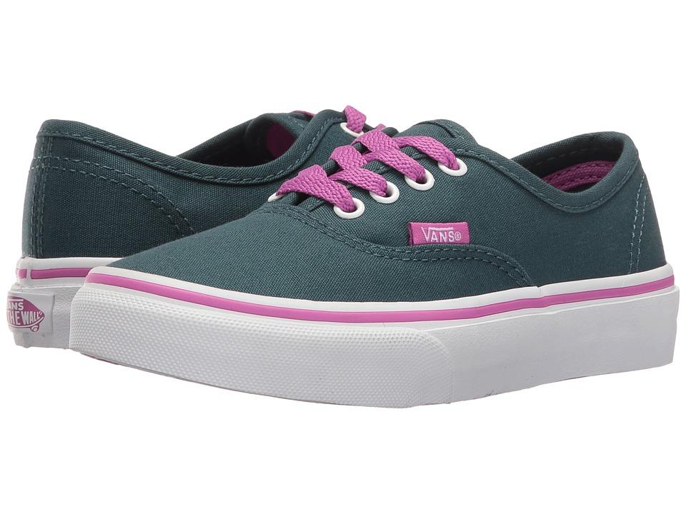 Vans Kids - Authentic (Little Kid/Big Kid) ((Pop) Atlantic Deep/Rosebud) Girls Shoes