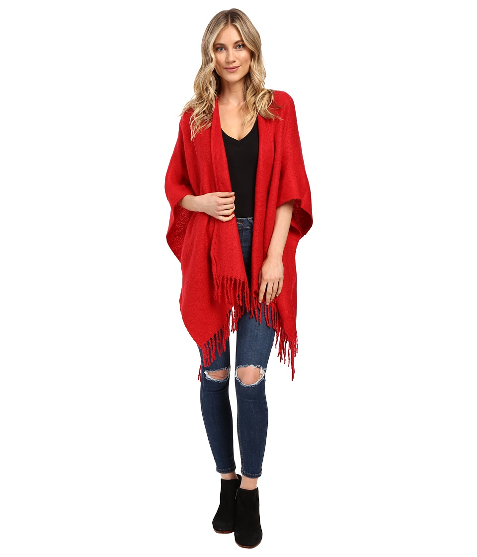 Echo Design - Boucle Ruana (Painter Red) Women's Clothing