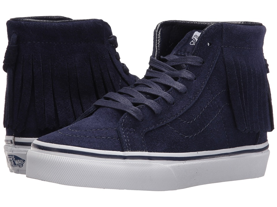 Vans Kids - Sk8-Hi Moc (Little Kid/Big Kid) ((Suede) Eclipse/Bel Air Blue) Girls Shoes