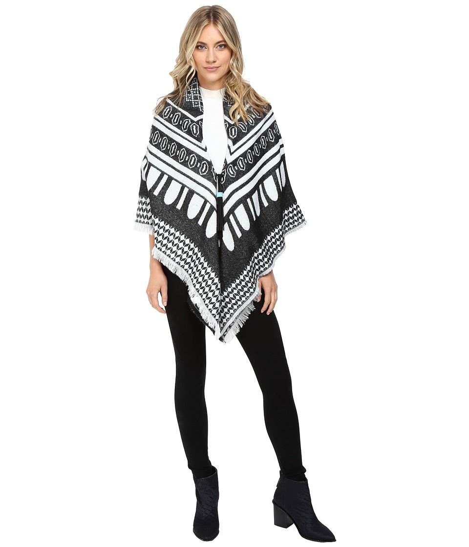 Echo Design - Border Square w/ Tassels (Black) Women's Clothing