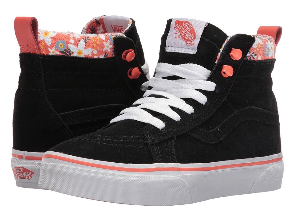 Vans Kids - SK8-Hi MTE (Little Kid/Big Kid) ((MTE) Floral Pop/Living Coral) Girls Shoes