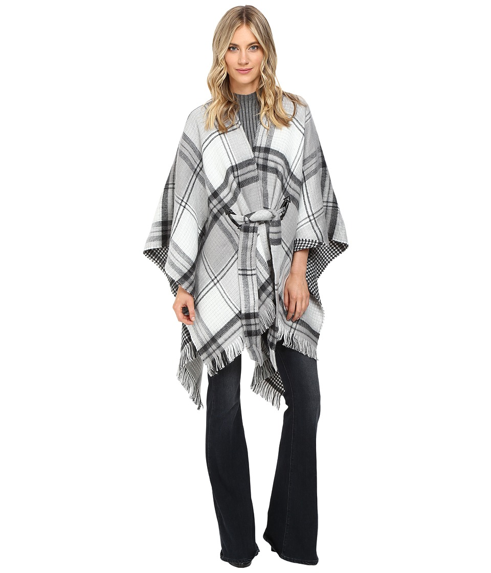 Echo Design - Reversible Plaid Cape (Black) Women's Clothing