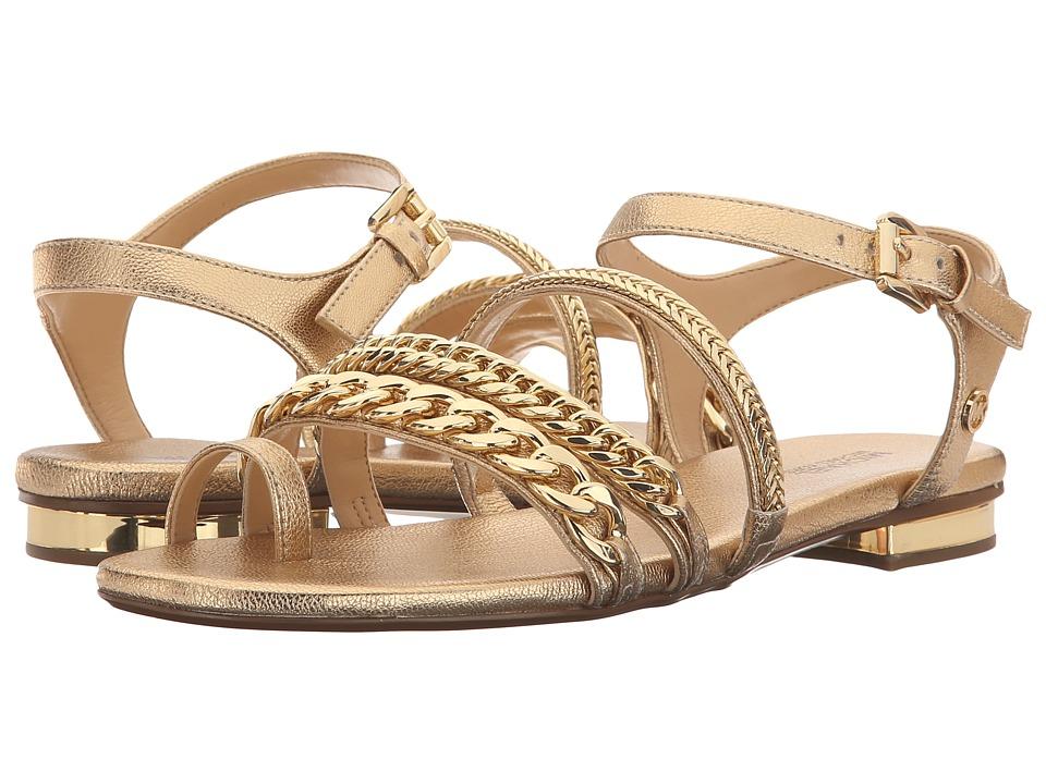 MICHAEL Michael Kors - Jackie Flat Sandal (Pale Gold) Women's Sandals