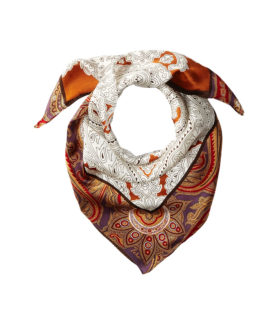 Echo Design - Everest Paisley Silk Square (Vicuna) Scarves