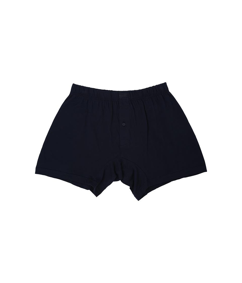2(X)IST - Pima Knit Boxer (Navy Blazer) Men's Underwear