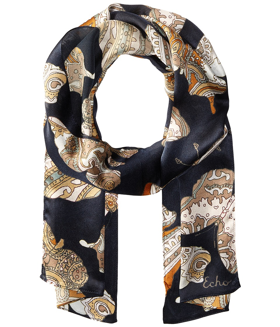 Echo Design - Paisley Butterflies Scarf (Black) Scarves