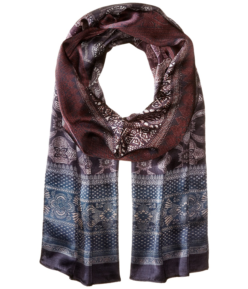 Echo Design - Patterned Ombre Oblong (Black) Scarves