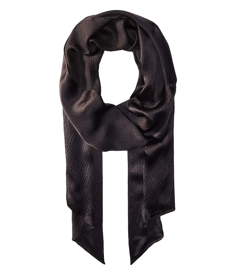 Echo Design - Love Bias Silk Skinny Scarf (Black) Scarves