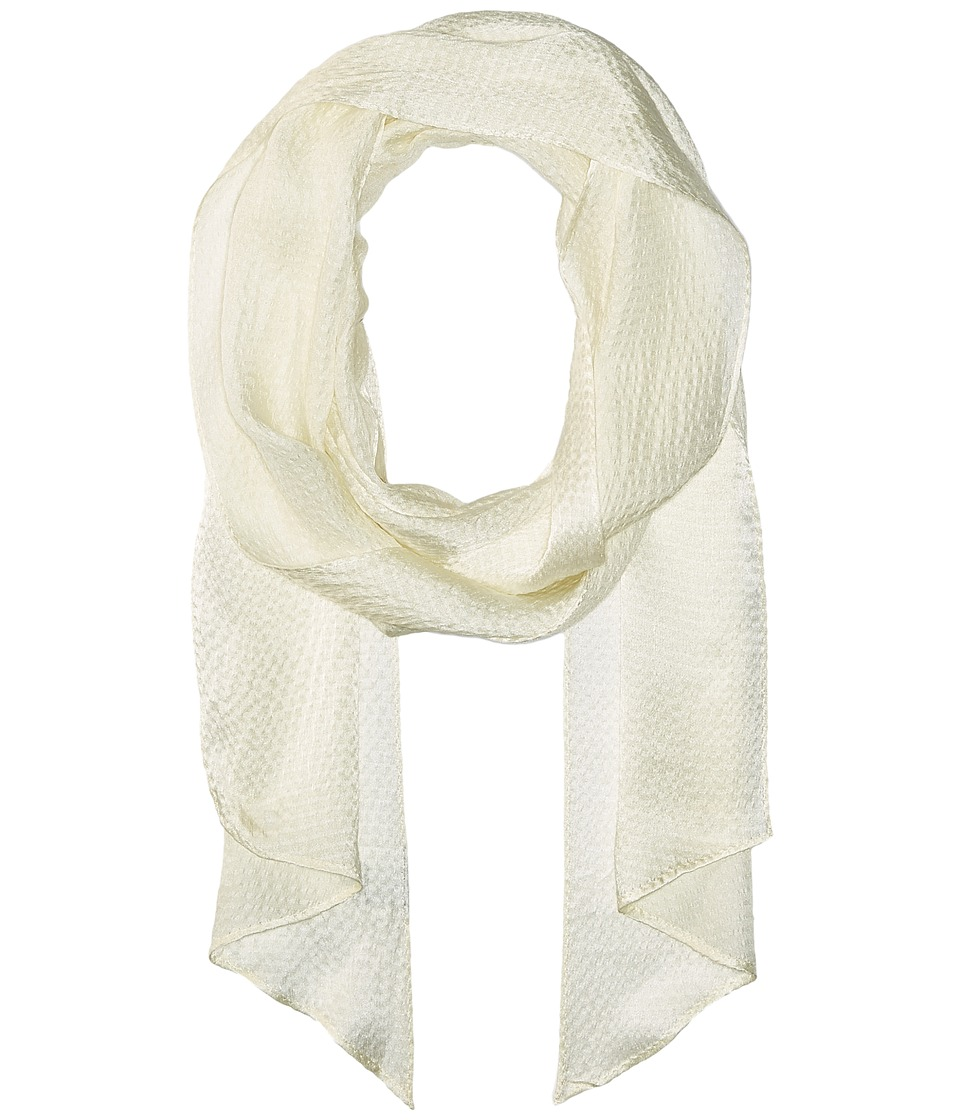 Echo Design - Love Bias Silk Skinny Scarf (Cream) Scarves