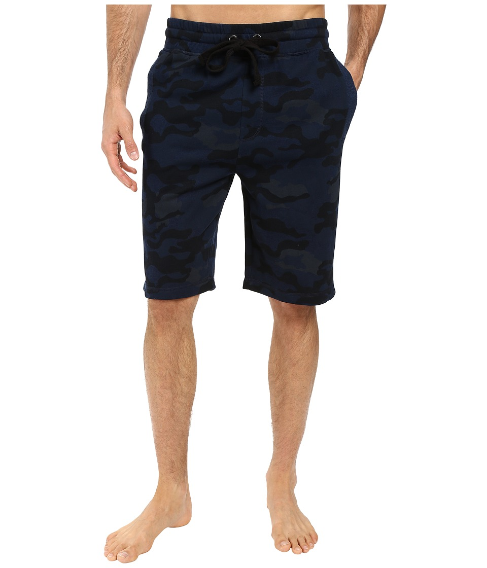 2(X)IST - Core Terry Short (Blue Camo) Men's Shorts