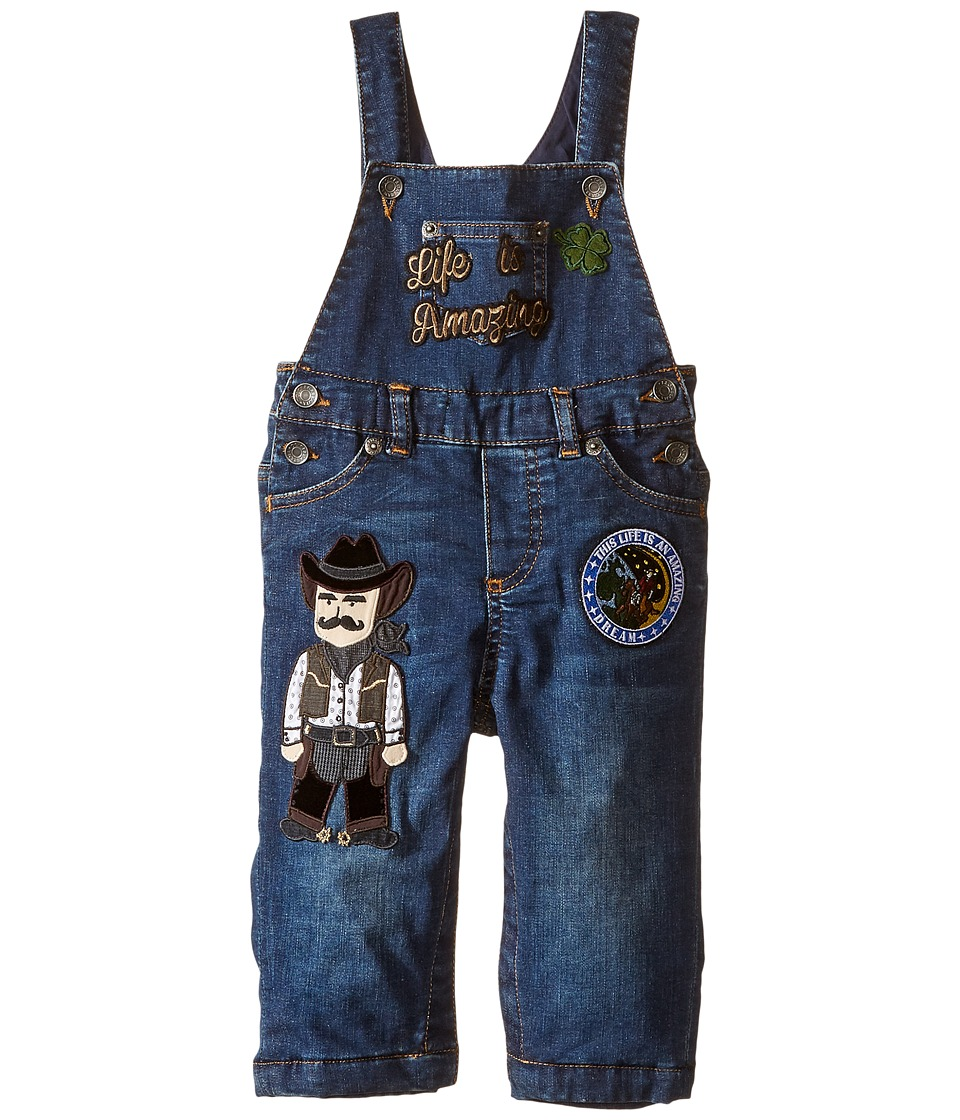 Dolce & Gabbana Kids - City Overalls (Infant) (Blue Denim) Boy's Jumpsuit & Rompers One Piece