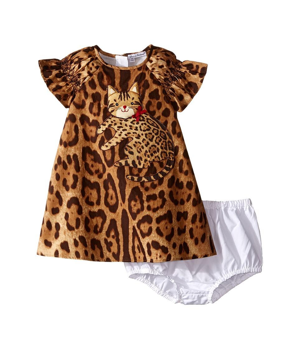 Dolce & Gabbana Kids - Zambia Dress (Infant) (Leopard Print) Girl's Dress
