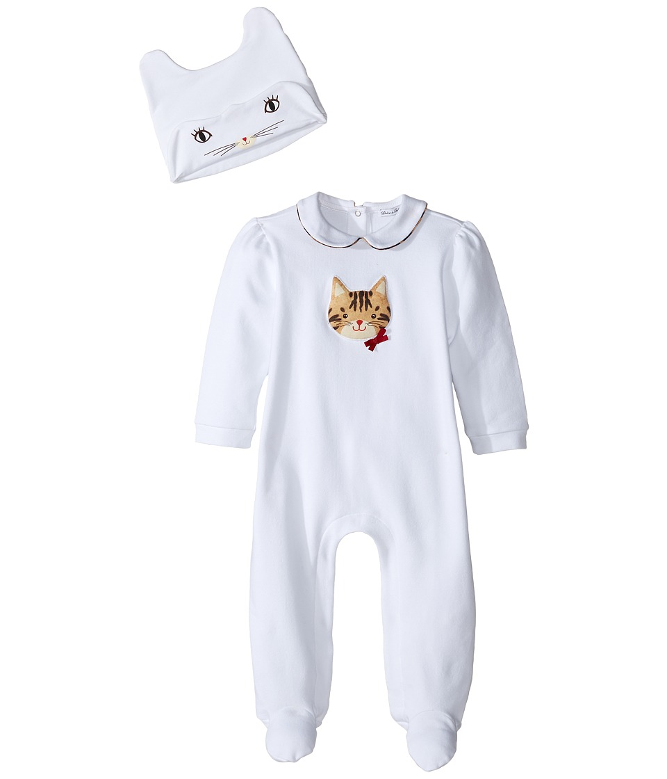 Dolce & Gabbana Kids - Zambia Gift Set One-Piece (Infant) (White Leopard Print) Girl's Jumpsuit & Rompers One Piece