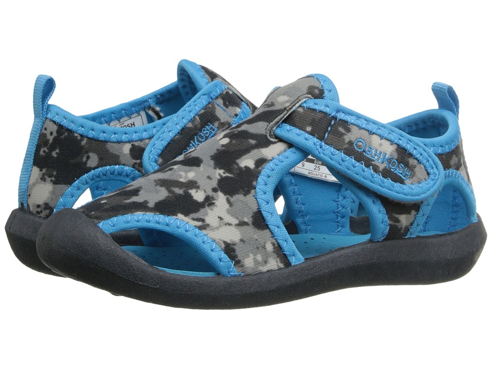 OshKosh - Aquatic-B (Toddler/Little Kid) (Grey/Blue) Boys Shoes