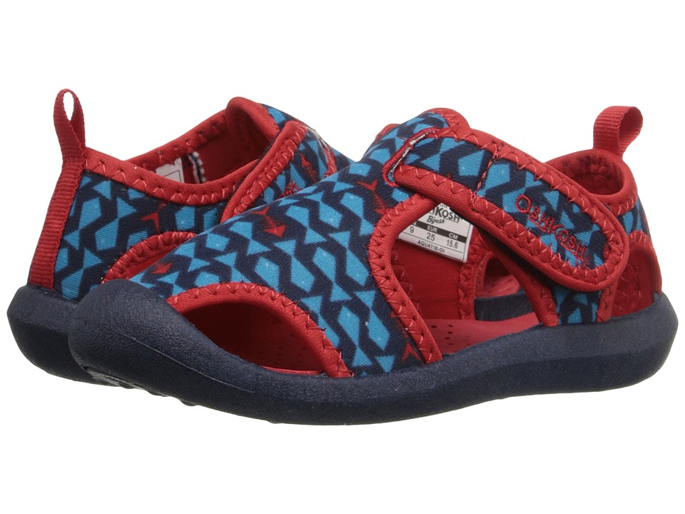 OshKosh - Aquatic-B (Toddler/Little Kid) (Navy/Red) Boys Shoes