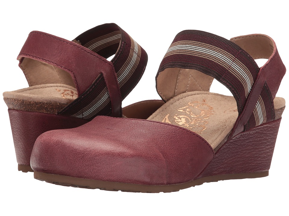 Aetrex - Olivia (Red) Women's Wedge Shoes