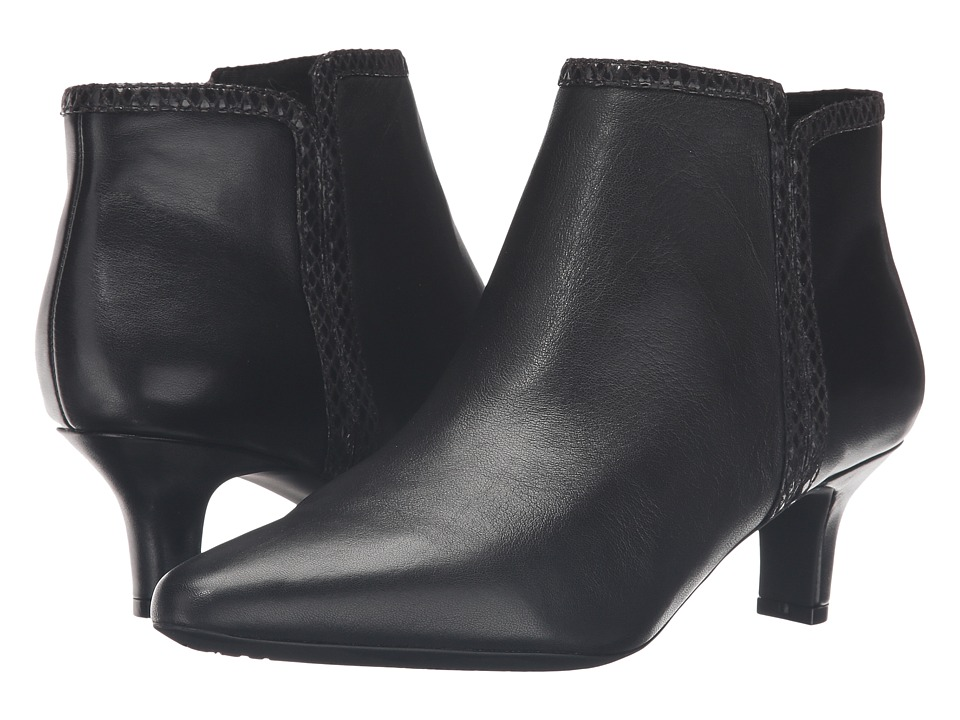 Rockport - Kimly Bootie (Black Leather) Women's Boots