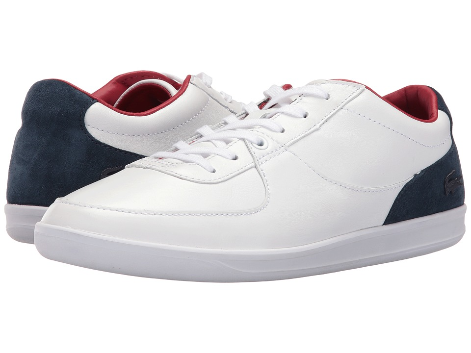 Lacoste - LS.12-Minimal 316 3 (White/Navy) Men's Shoes