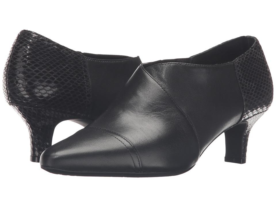 Rockport Kimly Keturah Shootie (Black Leather) Women