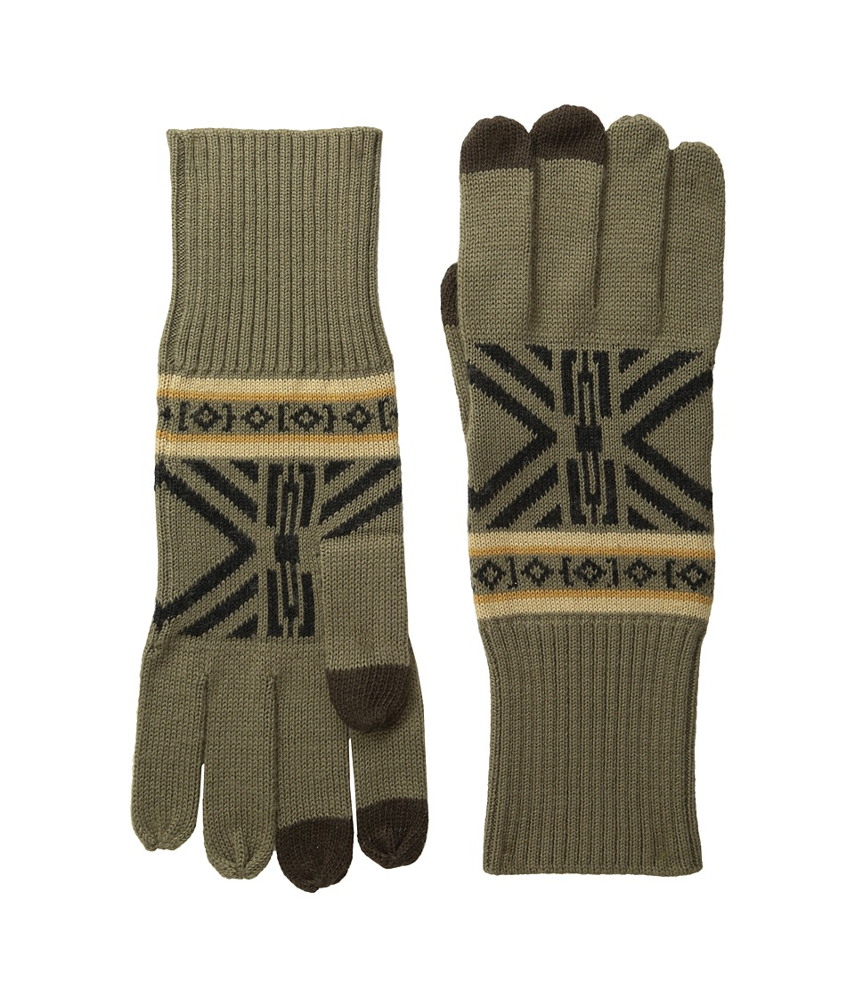 Pendleton Jacquard Knit Gloves (Westward) Wool Gloves