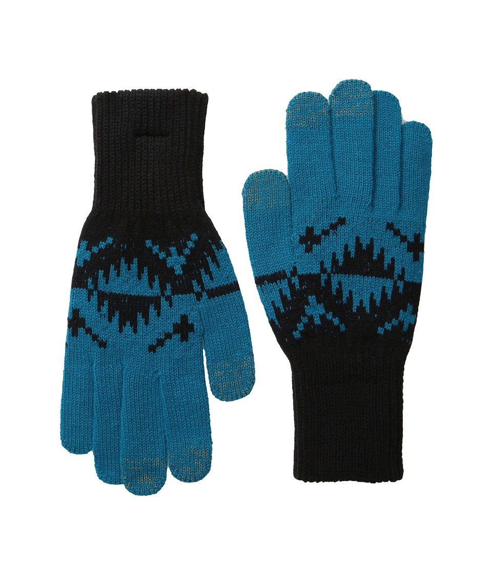 Pendleton - Jacquard Texting Gloves (Spider Rock Turquoise) Wool Gloves