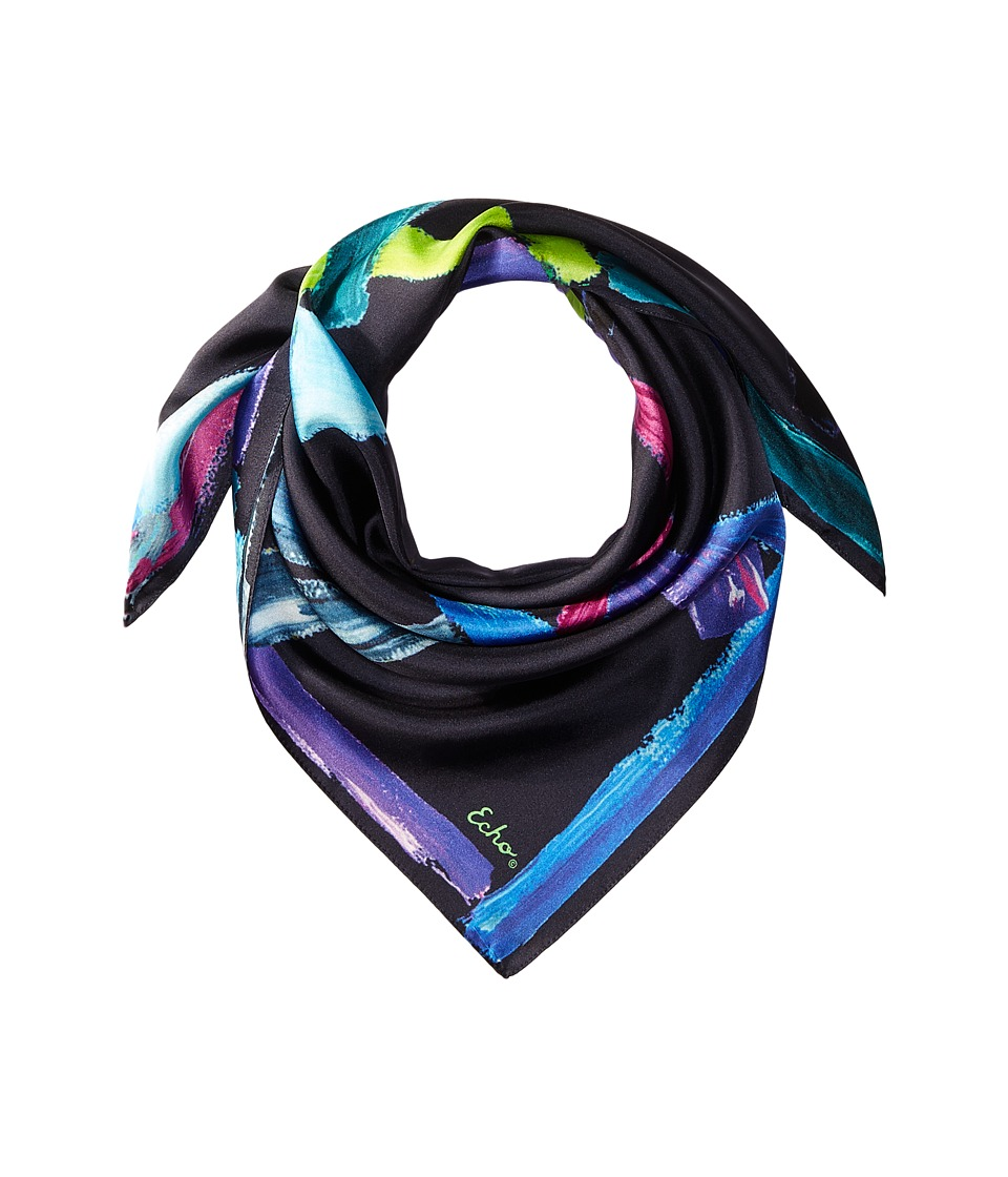 Echo Design - Stroke of Daze Silk Square (Navy) Scarves