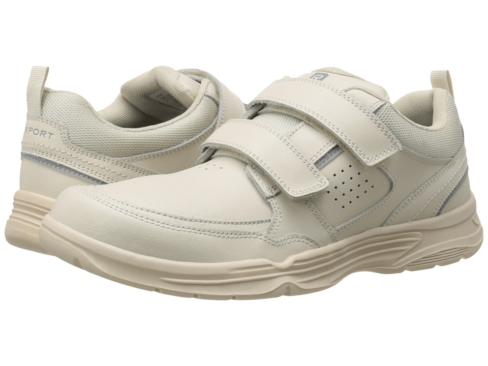 Rockport - State-O-Motion Hook and Loop (Sport White Leather) Men's Hook and Loop Shoes