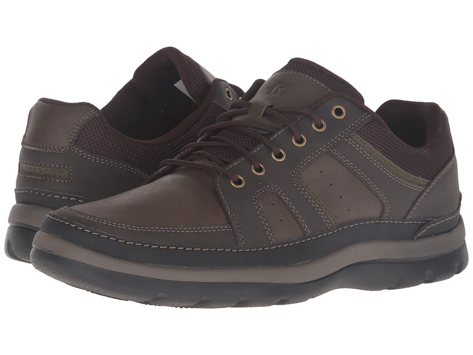 Rockport - Get Your Kicks Mudguard (Dark Brown Leather) Men's Shoes