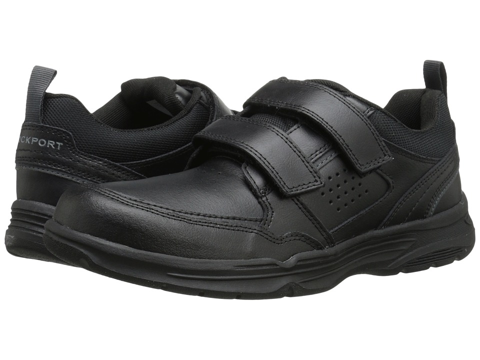 Rockport - State-O-Motion Hook and Loop (Black Leather) Men's Hook and Loop Shoes