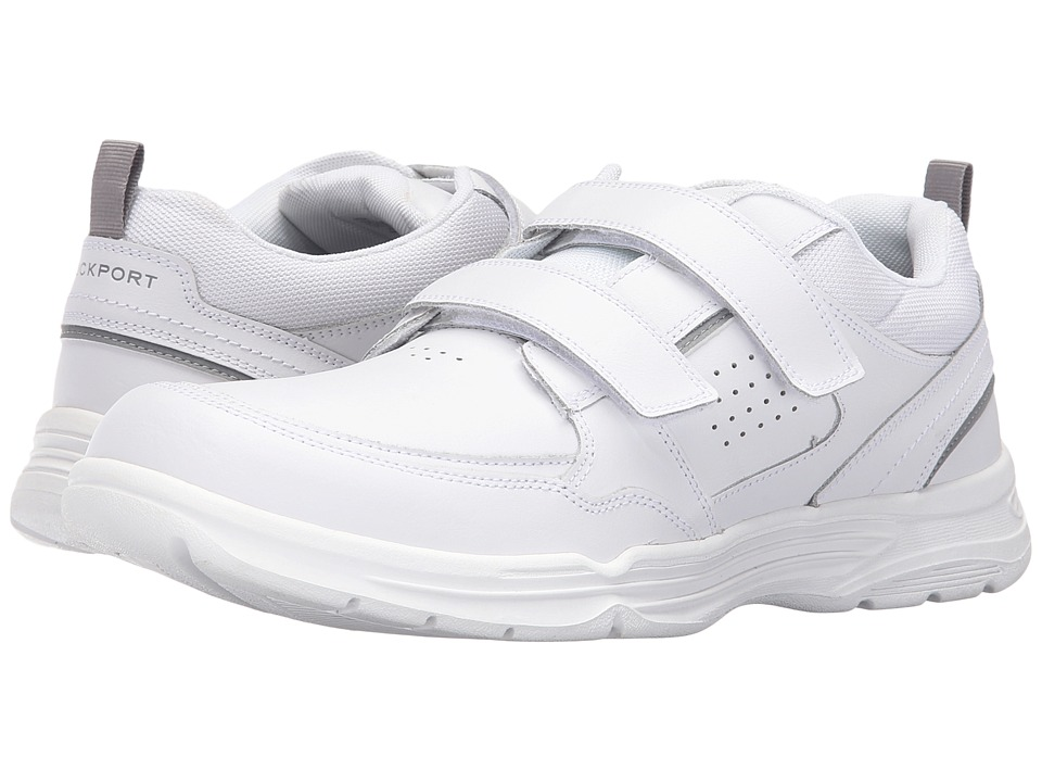 Rockport - State-O-Motion Hook and Loop (White Leather) Men's Hook and Loop Shoes
