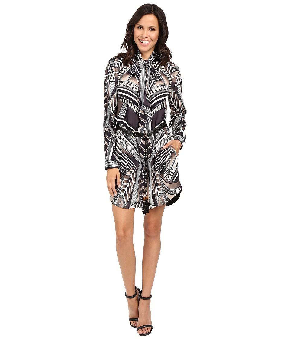 Hale Bob - Graphic Impact Shirtdress (Beige) Women's Dress