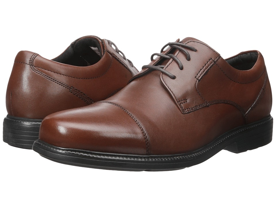 Rockport Charles Road Cap Toe Oxford (Tan II Leather) Men