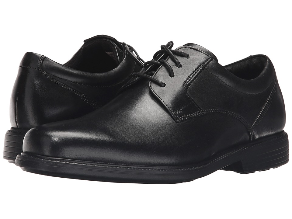 Rockport - Charles Road Plain Toe Oxford (Black Leather) Men's Lace up casual Shoes
